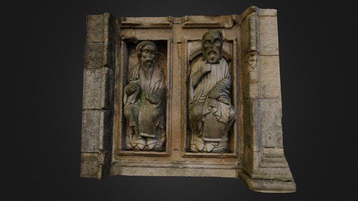 Abdías y Santo Tomás - Maestro Mateo 3D Model