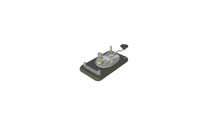 J-38 Straight (Telegraph) Key 3D Model