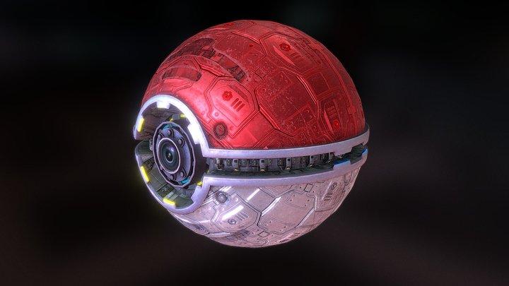Pokeball Stylized 3D Model