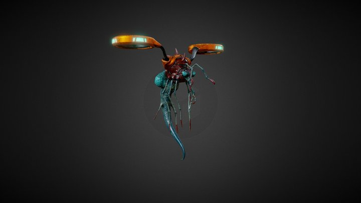 Scifi Insect 3D Model