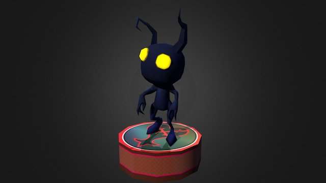 Shadow Heartless Posed 3D Model