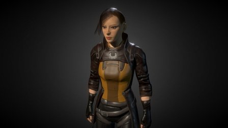 Cyberpunk/Raider 3D Model