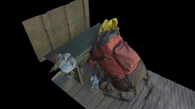 Backpack @ Mt Heale hut 3D Model