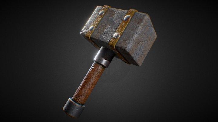 Stone Hammer 3D Model