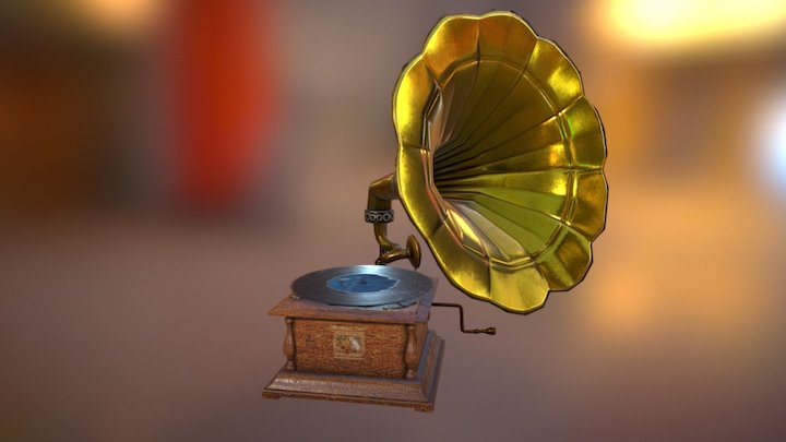 Vintage record player 3D Model