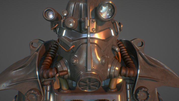 Fallout T-45D Power Armor for Cosplay 3D Model