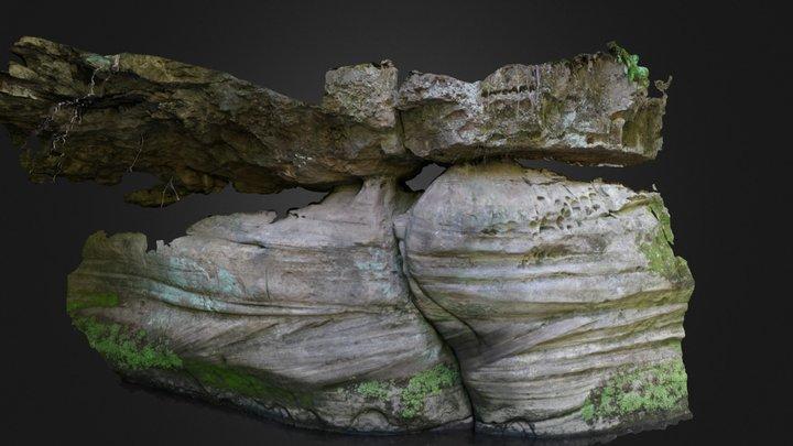 Franklin Creek - Whipple's Cave cross-bedding 3D Model