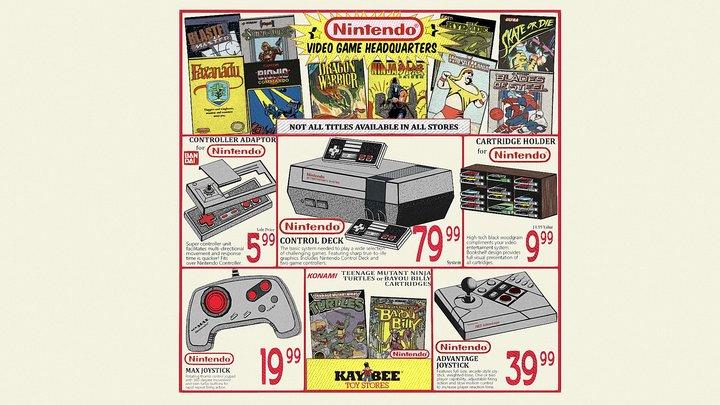 Retro Advertisement - Nintendo Nes from Kay Bee 3D Model