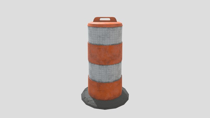 Traffic Drum 3D Model