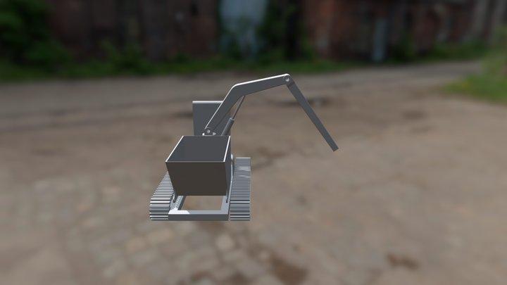 Mini ładowarka Złożenie 3D Model