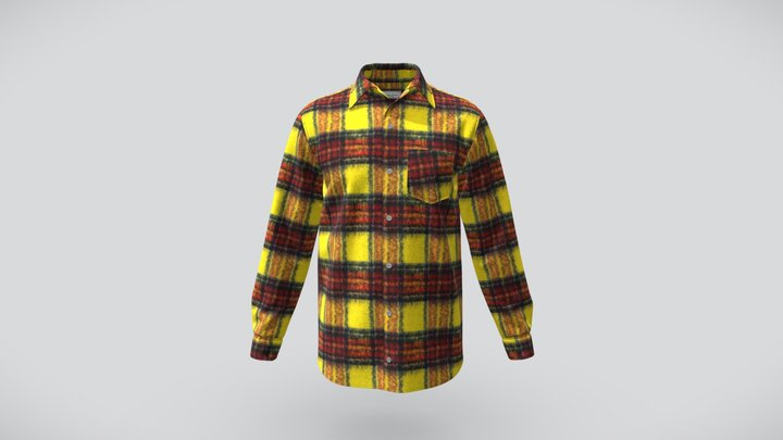 Christos Dovas Yellow  Shirt 3D Model