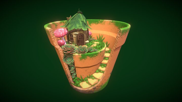 Gnome Home in the Garden 3D Model