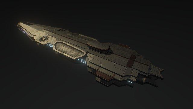 Imperial cruiser #1 3D Model