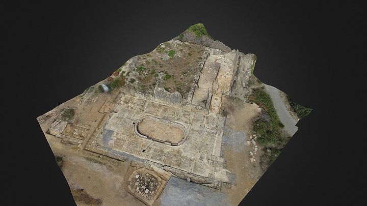 Antiochia ad Cragum Roman Mosaic 3D Model
