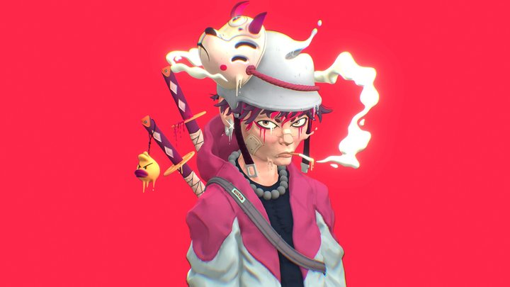 Katana Boy (Buzsheep) 3D Model