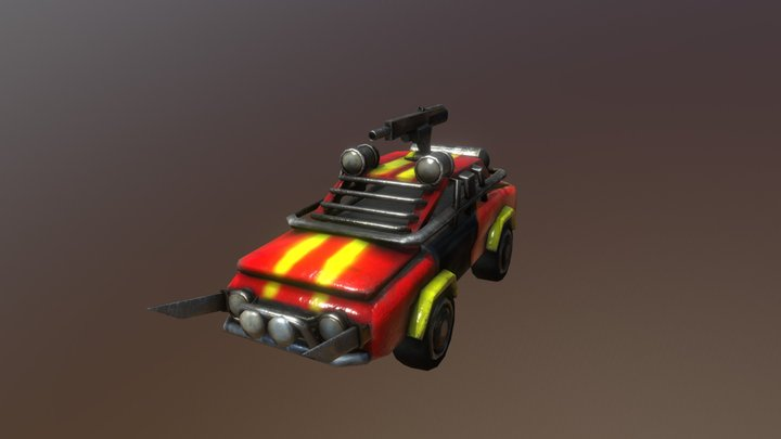 Commercial - Wasteland Dweller's Vehicle 3D Model