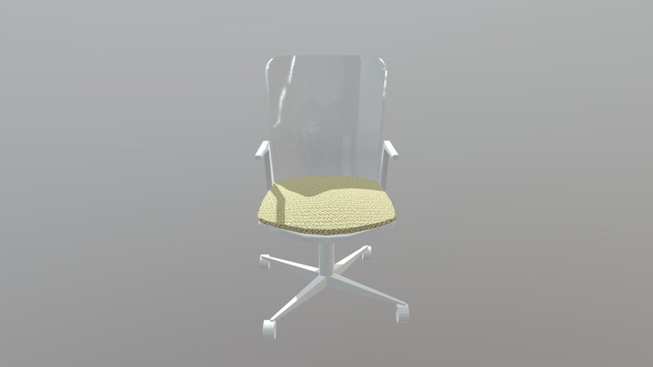 White office chair 3D Model