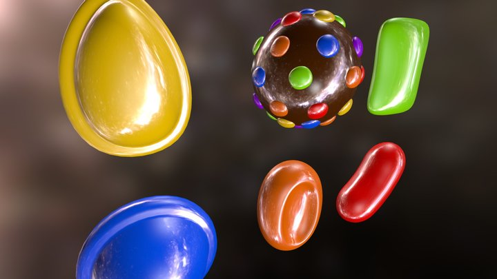 CANDY CRUSH ICONS 3D Model