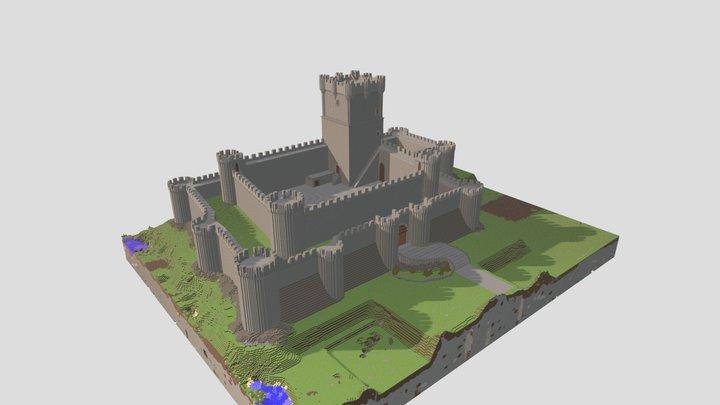 Castillo de Villena, España en Minecraft. 3D Model