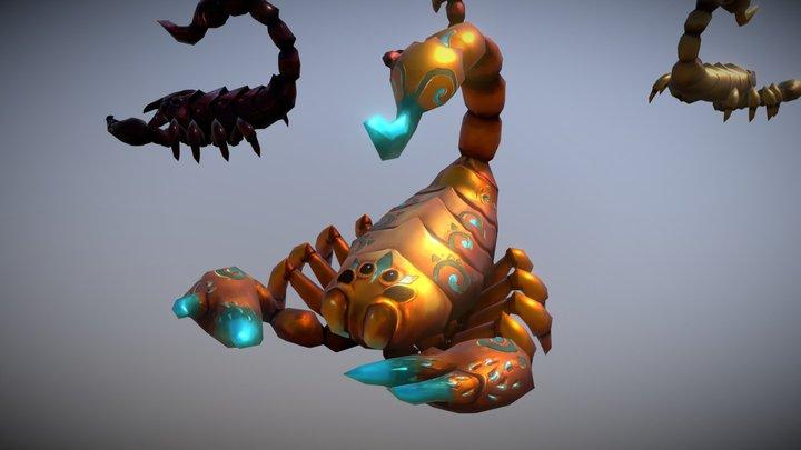 Egypt Scorpion Pack - Handpainted Lowpoly 3D Model