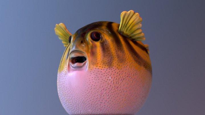 Pufffish Animation 3D Model