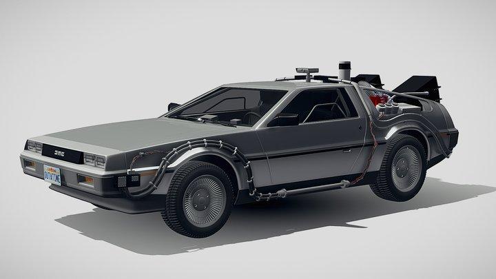 DeLorean DMC-12 Back To The Future episode 1 3D Model
