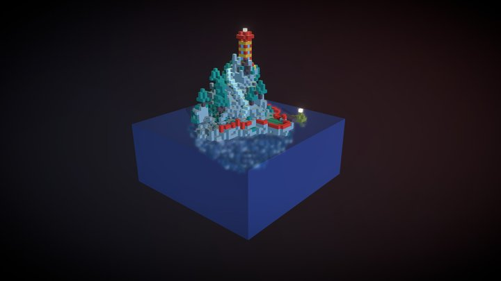 The drifting island 3D Model