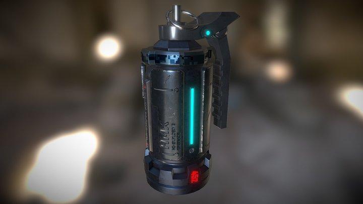 Sci-Fi Grenade 3D Model
