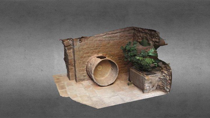 Castell de Cardona - Detall pati d'entrada 3D Model