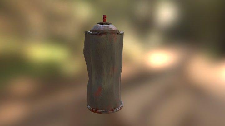 Spray Paint Can Texture 3D Model