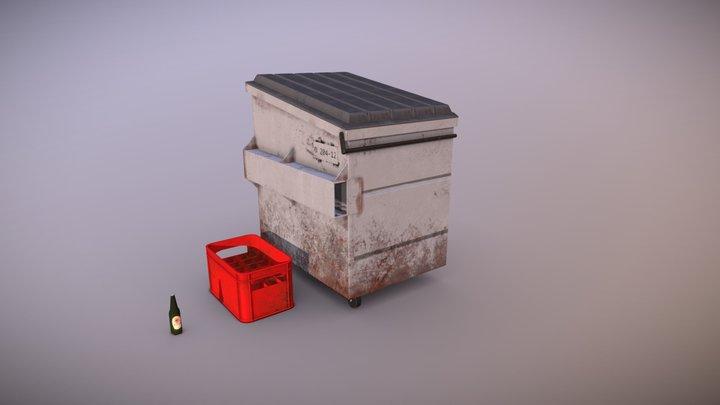 Alleyway Dumpster 3D Model