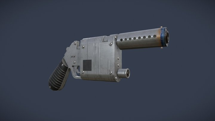Rey's NN-14 Blaster 3D Model