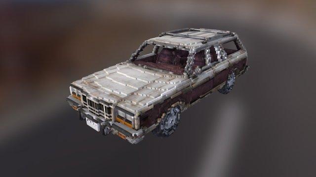 Voxel Car Static 3D Model
