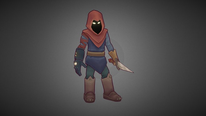 Shadow Rogue Idle 3D Model