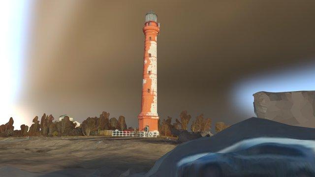 Pakri lighthouse 3D Model