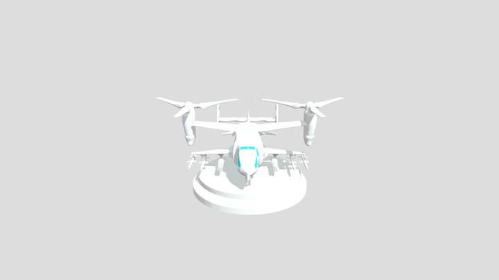 DUAL PROPELLER HELİCOPTER 3D Model