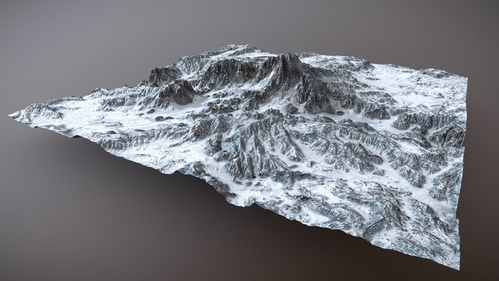 Ice Landscape - Gaea 3D Model