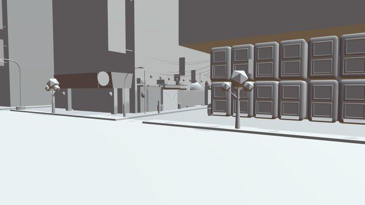 Tokyo streets Diploma Blocking 3D Model