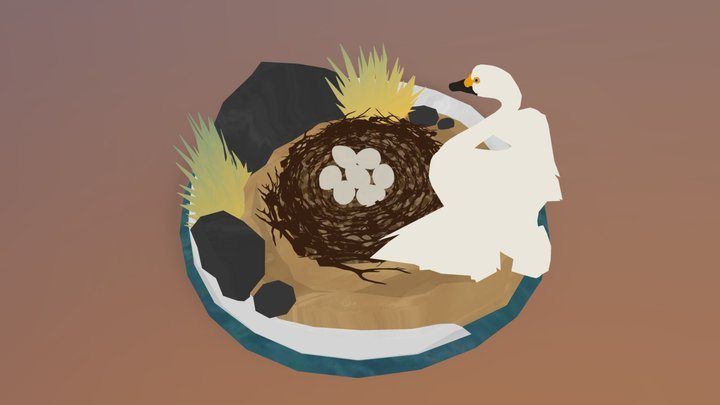 Spring: Swan nest 3D Model
