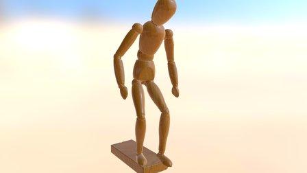 Boneco- Pose-4 3D Model