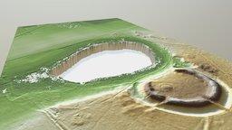 Pingo Ruin, Barrow, Circular Rampart - Uddel 3D Model