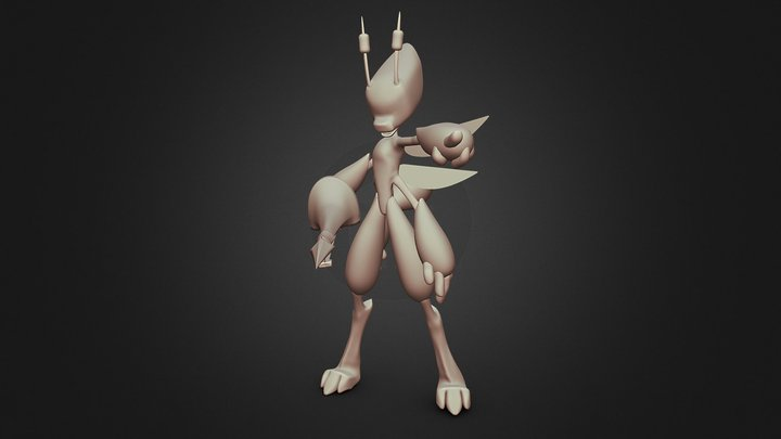 Character Concept: Amber 3D Model