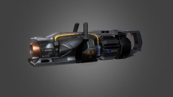 Futuristic Gun 3D Model