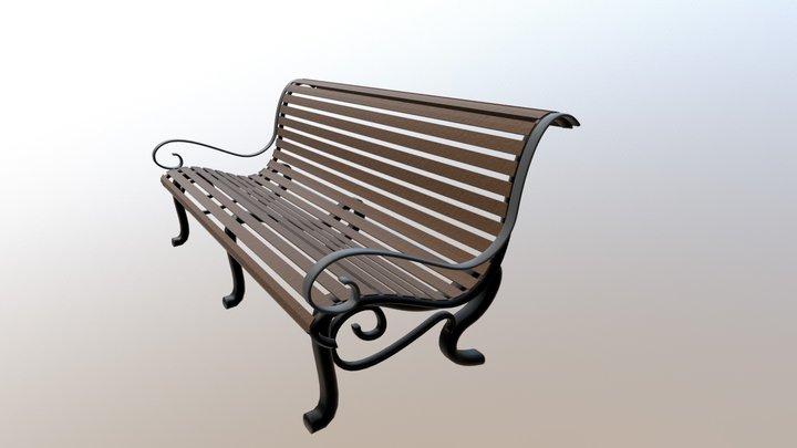 RMS Titanic Wooden Bench 3D Model