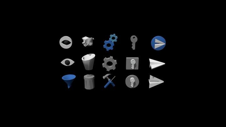 3D icond _Utilities /Settings 3D Model
