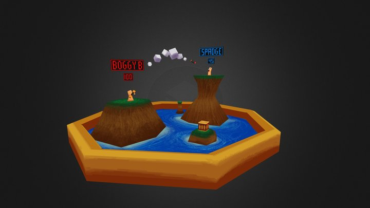 WormsDiorama.obj 3D Model