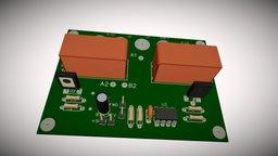 Контроллер управления асинхронным двигателем 3D Model