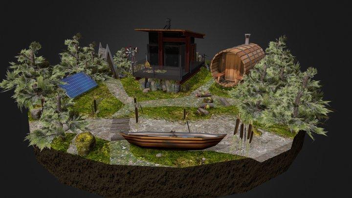 Diorama assignment(Eco House) 3D Model