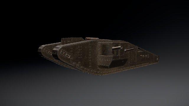 Mark IV Tank 3D Model