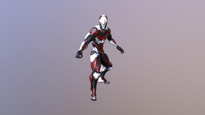 Cyber Ninja Wolf 3D Model